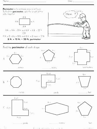 Perimeter Worksheet for 3rd Grade Teaching Perimeter Worksheets area and Circumference