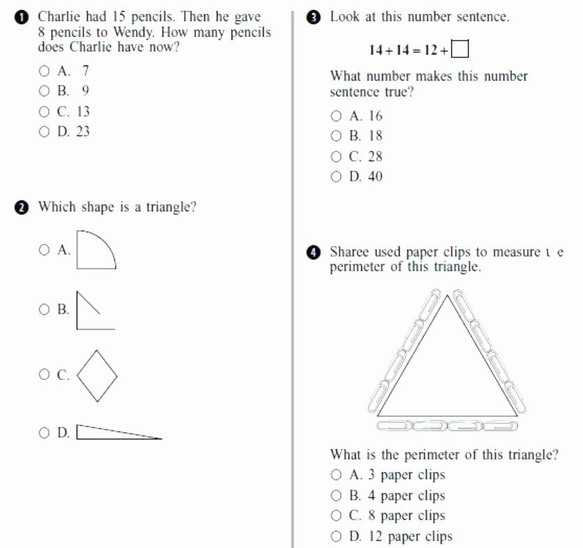 Perimeter Worksheet for 3rd Grade Third Grade Math Worksheets Test Practice Fresh Workshee