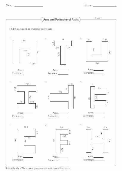 Perimeter Worksheet for 3rd Grade Worksheets Easy Perimeter Worksheets Easy Perimeter