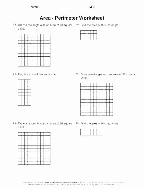 Perimeter Worksheets 3rd Grade Pdf 3rd Grade area and Perimeter Worksheets