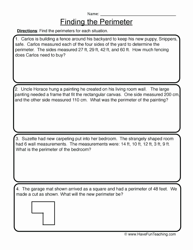 Perimeter Worksheets 3rd Grade Pdf area Word Problems Math Volume Worksheets Grade and