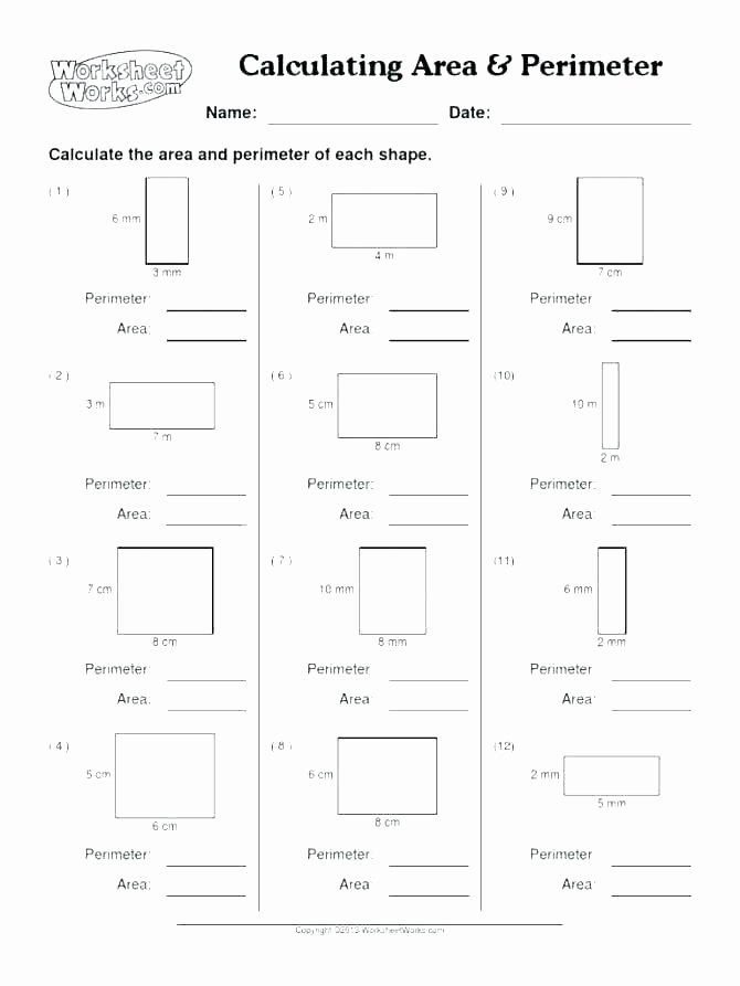 Perimeter Worksheets 3rd Grade Pdf Geometry Worksheet – Benaqiba