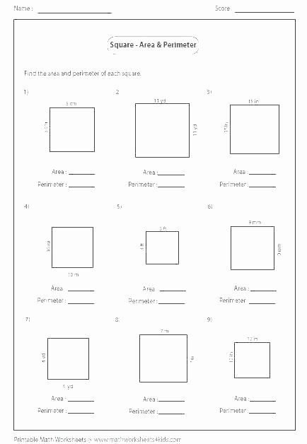 Perimeter Worksheets for 3rd Grade area and Perimeter Worksheets with Answers