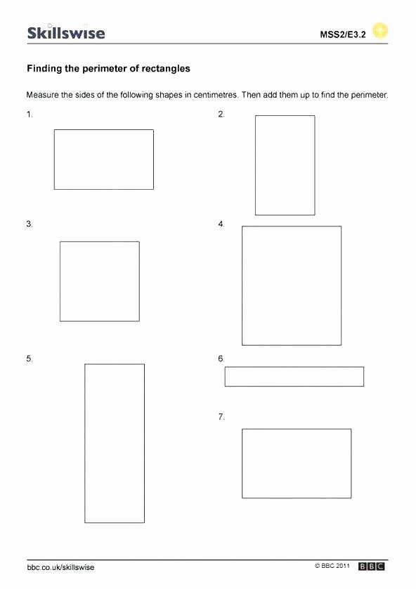 Perimeter Worksheets for 3rd Grade area Worksheets Year 4 – Trungcollection
