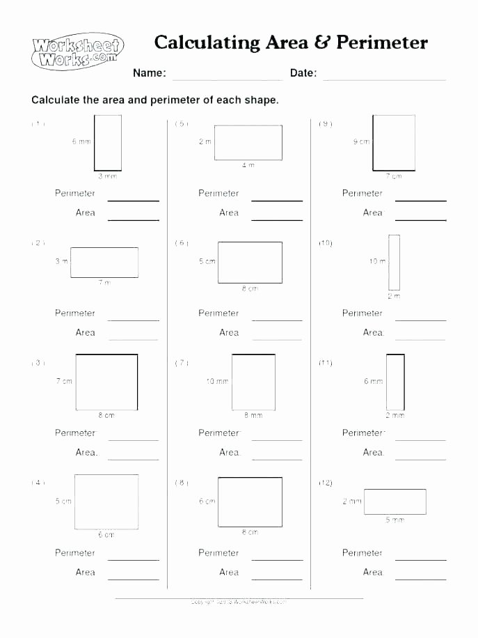 Perimeter Worksheets for 3rd Grade Free Printable area and Perimeter Worksheets 3rd Grade Math