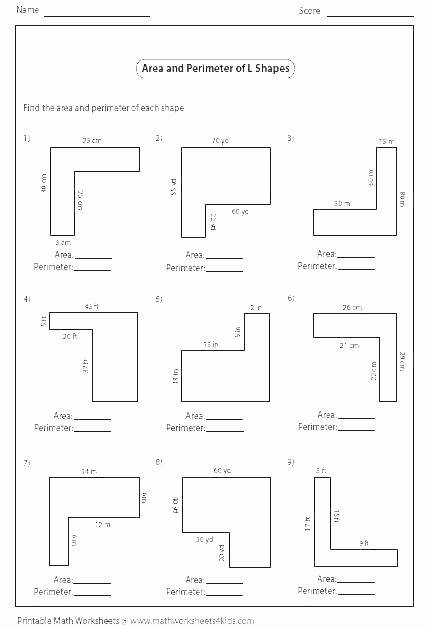 Perimeter Worksheets for 3rd Grade Free Printable Perimeter Worksheets for Teaching area and