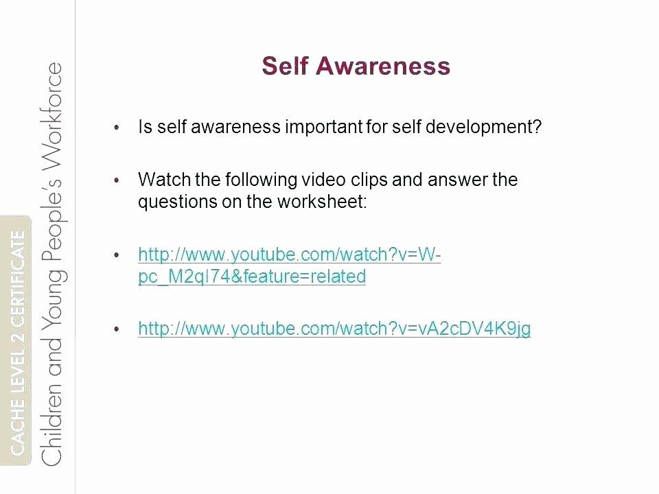 Personal Development Worksheet Inspirational Self Image Worksheets