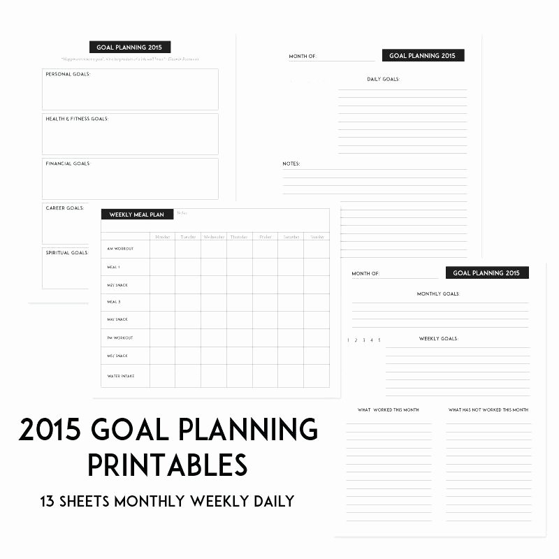 Personal Development Worksheets Inspirational Goal Setting Template Here Free Goal Setting