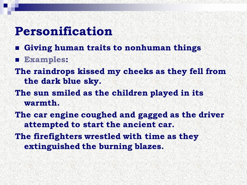 Personification Worksheet 2 Examples for Personification Image Collections Example Of