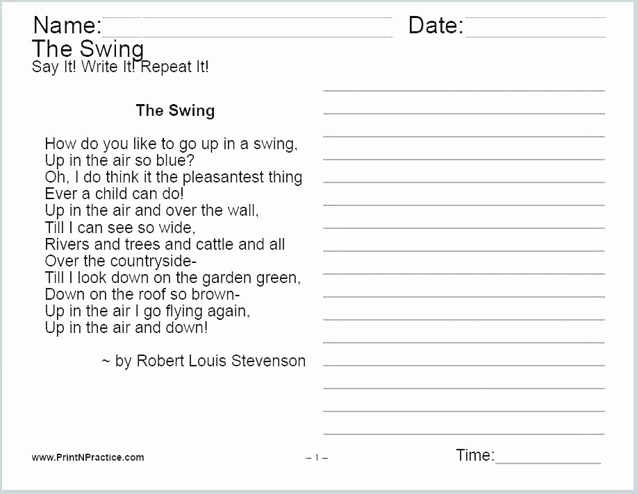 Personification Worksheets 6th Grade Poems for Grader Free Printable Worksheets for Graders
