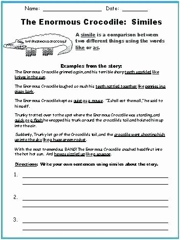 Personification Worksheets Answers Metaphor Worksheets for Kids Metaphor Worksheets for Kids