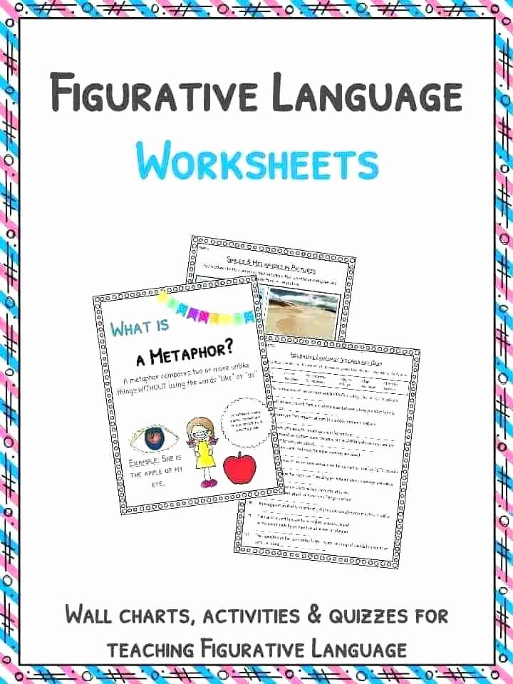Personification Worksheets for Middle School Download the Figurative Language Worksheets Examples
