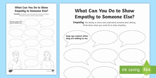 Perspective Taking Worksheets Unique What Can You Do to Show Empathy Worksheet Feelings Young