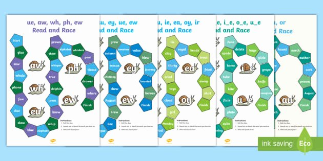 Ph Phonics Worksheet Phase 5 Phonics Read and Race Game Bumper Activity Pack