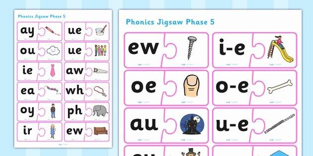 Ph Phonics Worksheet Phonics Jigsaw Phase 5 Phonics