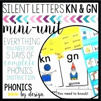 Ph Phonics Worksheets Silent Letters Kn Worksheets Phonics by Mini Unit Free Wr Gn
