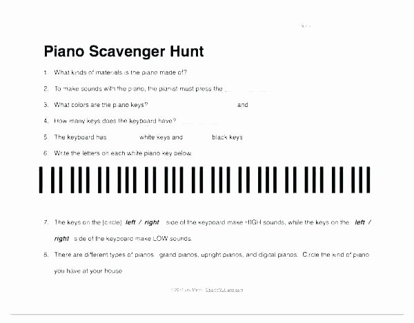 Piano Worksheets for Beginners Piano Worksheets Beginners Printable Free Music theory