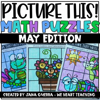 Pictogram Puzzles Printable May Math Puzzles End Of Year Math Activities