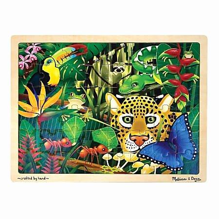 Pictogram Puzzles Printable Melissa & Doug Rain forest 48 Piece Jigsaw Puzzle Item
