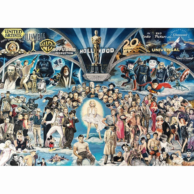 Pictogram Puzzles Printable Puzzle 1000 Pi¨ces Hollywood the Universe Of Glory
