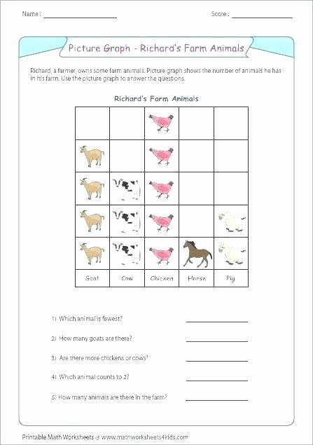 Pictograph for 2nd Grade Sample Tally Bar Chart Worksheets and Frequency Table Maths