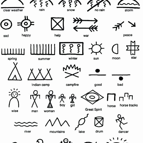 Pictograph Worksheets Pdf Native Pictographs Symbols S and Pictograph Worksheets for