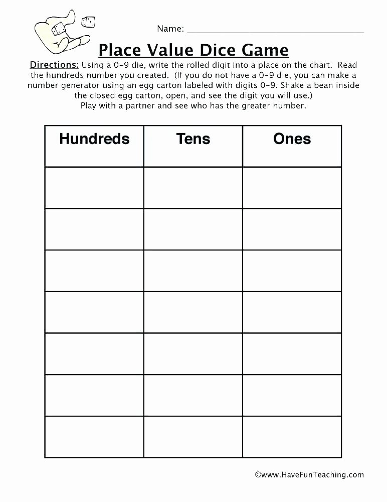 Place Value Worksheet 3rd Grade Free Place Value Worksheets