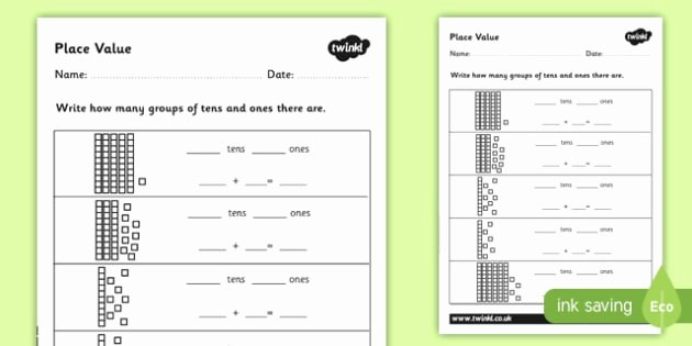 Place Value Worksheet 3rd Grade Place Value Worksheet Cfe First Level Second Level