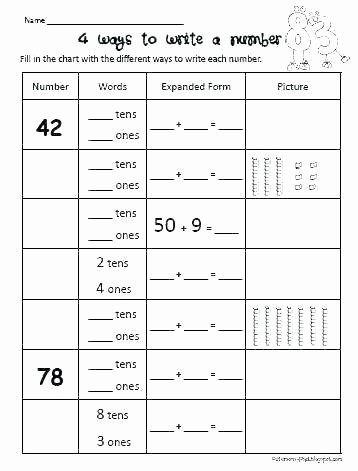 Place Value Worksheet 3rd Grade Place Value Worksheets Es and Tens Charts Math 5th Grade