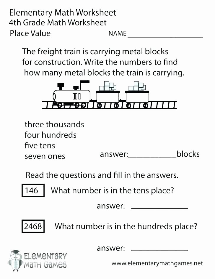 Place Value Worksheet 3rd Grade Teaching Place Value Grade Math Place Value Worksheets Free