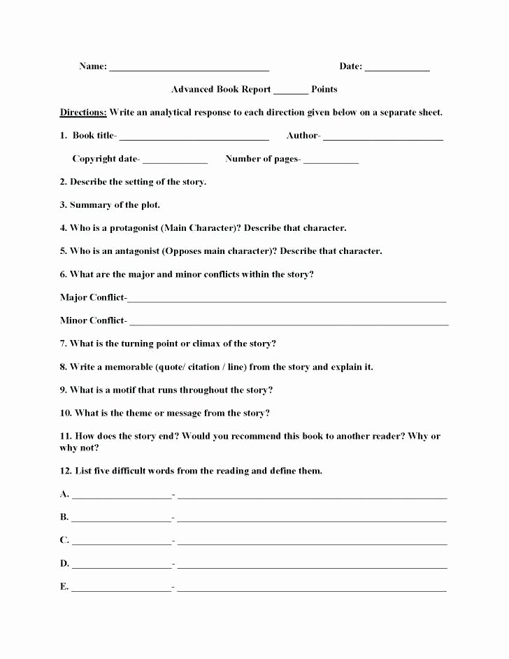 Plot and theme Worksheets Character Worksheets