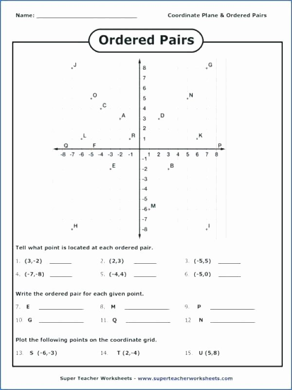 Plotting ordered Pairs Worksheet Plotting Of Points Worksheet – Ozerasansor