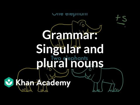 Plural Nouns Worksheet 5th Grade Introduction to Singular and Plural Nouns Video