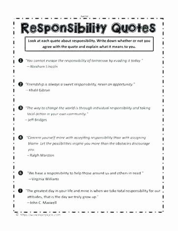 Poetry Practice Worksheets Responsibility Acrostic Poem Printable Worksheets
