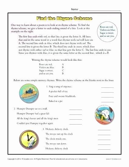 Poetry Worksheets Middle School Poetry Worksheets Prehension Middle School Writing