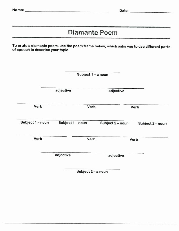 Poetry Worksheets Middle School Stressed and Unstressed Syllables Worksheets