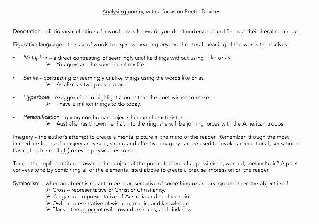 Poetry Worksheets Pdf Precise Words Worksheet