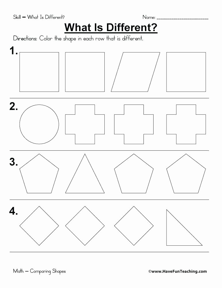 Polygon Worksheets 2nd Grade First Grade Shapes Worksheets Similar for Math 1
