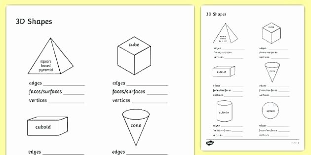 Polygon Worksheets 2nd Grade Shapes Worksheets for Grade 2 solid Shapes Worksheets