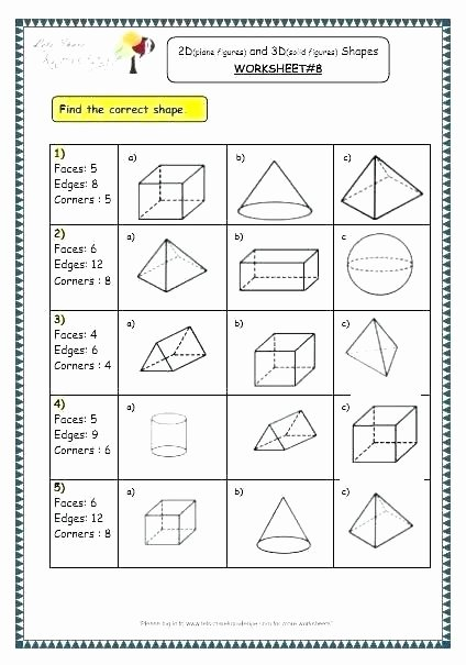 Polygon Worksheets 3rd Grade Geometric Figures Worksheet – originalpatriots