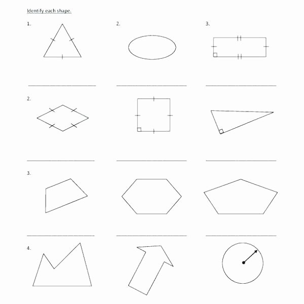 Polygon Worksheets 3rd Grade Kindergarten and Shapes Worksheets School Es Identifying 3rd