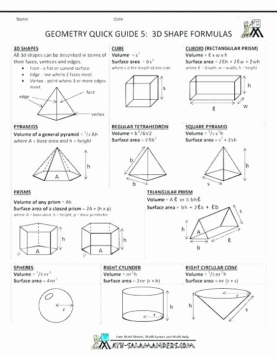 Polygon Worksheets 3rd Grade Similar Congruent Shapes Printable area Polygons