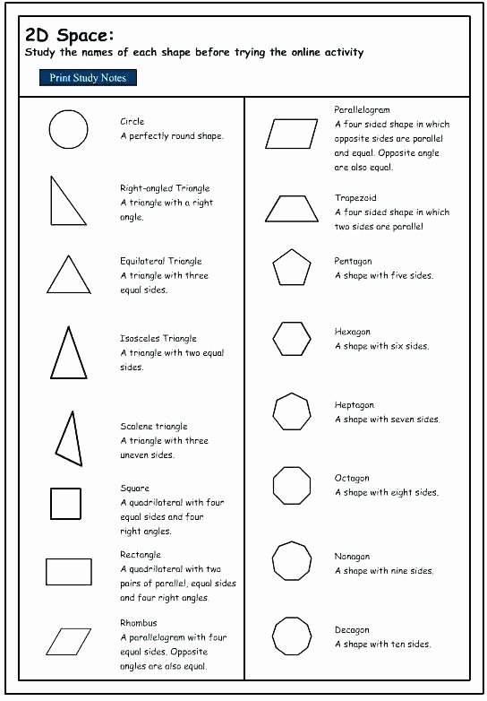Polygon Worksheets 3rd Grade Two Dimensional Shapes Worksheets