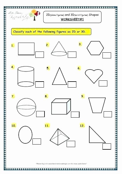 Polygon Worksheets 4th Grade solid Figures Worksheets