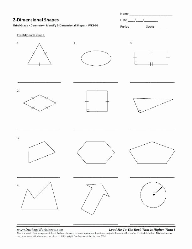 Polygon Worksheets 4th Grade Two and Three Dimensional Shapes Worksheets