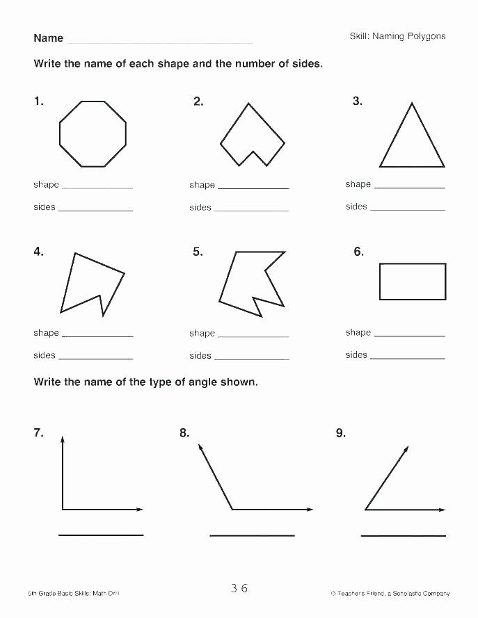 Polygon Worksheets 5th Grade Geometry Worksheets – Kenkowomanfo