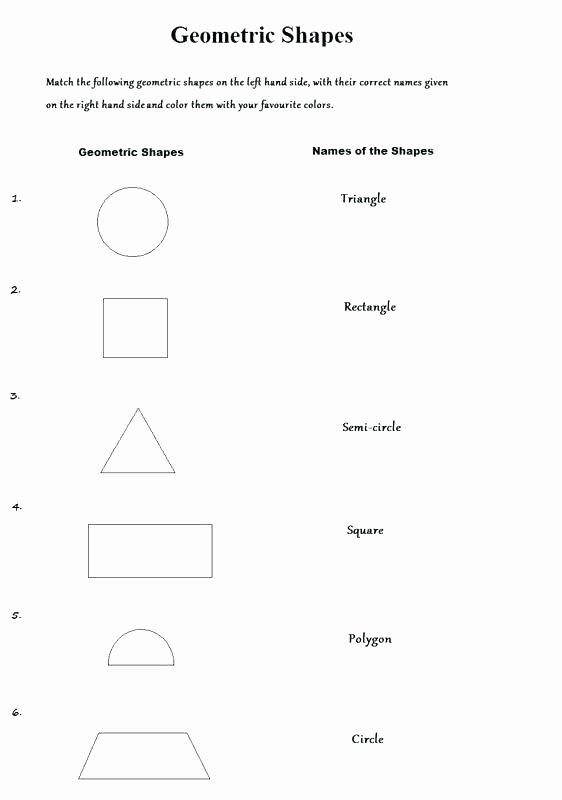 Polygon Worksheets 5th Grade Grade Shapes Worksheets First Geometry for 1st social