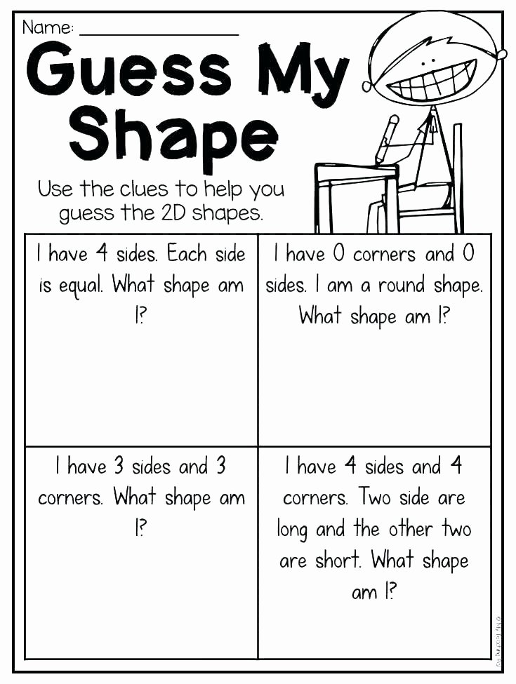 Polygon Worksheets for 2nd Grade Geometry Worksheets Best Shape Sides Worksheet