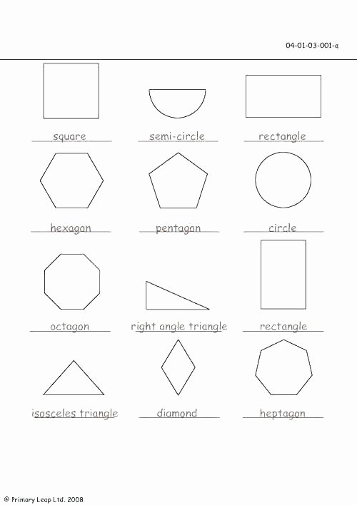 Polygon Worksheets for 2nd Grade Geometry Worksheets Shape attributes Chart 4th Grade Lines
