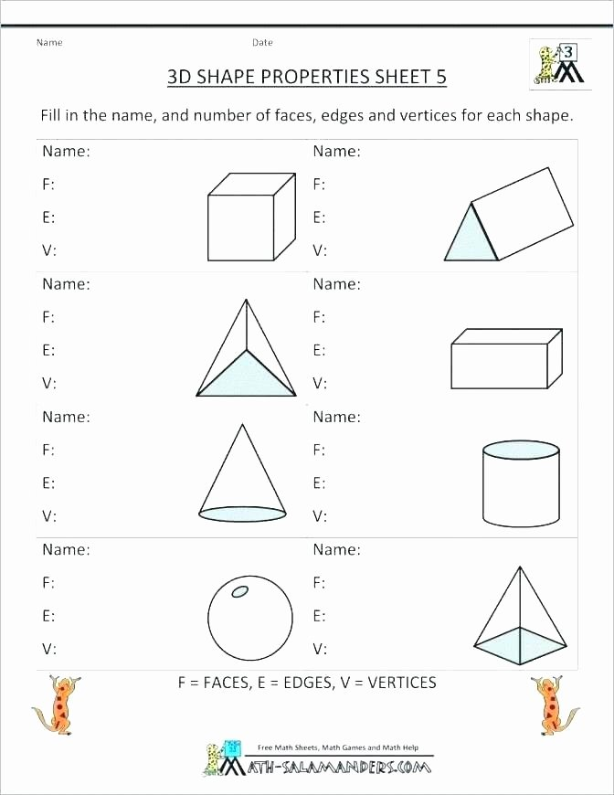 Polygon Worksheets for 2nd Grade Grade 2 Math Shapes 2d and 3d Shapes Worksheets 2nd Grade 3d